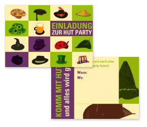hut party - ideen mottoparty, Einladung