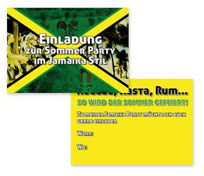 kostenlose sommer party einladungskarte im jamaika stil ideen mottoparty. Black Bedroom Furniture Sets. Home Design Ideas