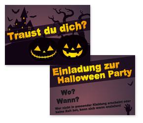 kostenlose einladungskarten für gruselige halloween party - ideen, Einladung
