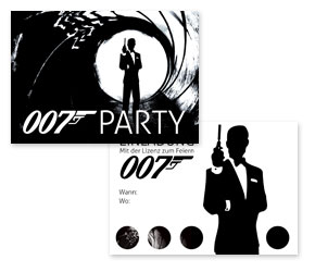 kostenlose stilvolle einladungen f r james bond party ideen mottoparty. Black Bedroom Furniture Sets. Home Design Ideas